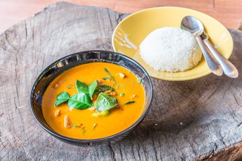 Caril tailandês delicioso do panang imagem de stock