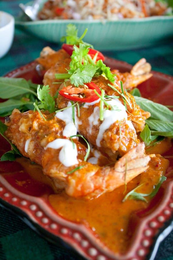 Caril tailandês do camarão fotografia de stock royalty free