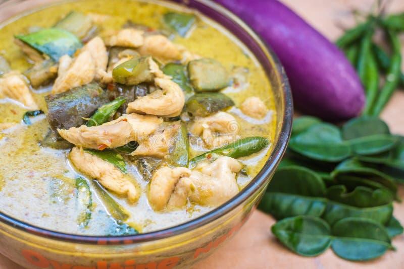 Caril tailandês do verde do alimento foto de stock royalty free