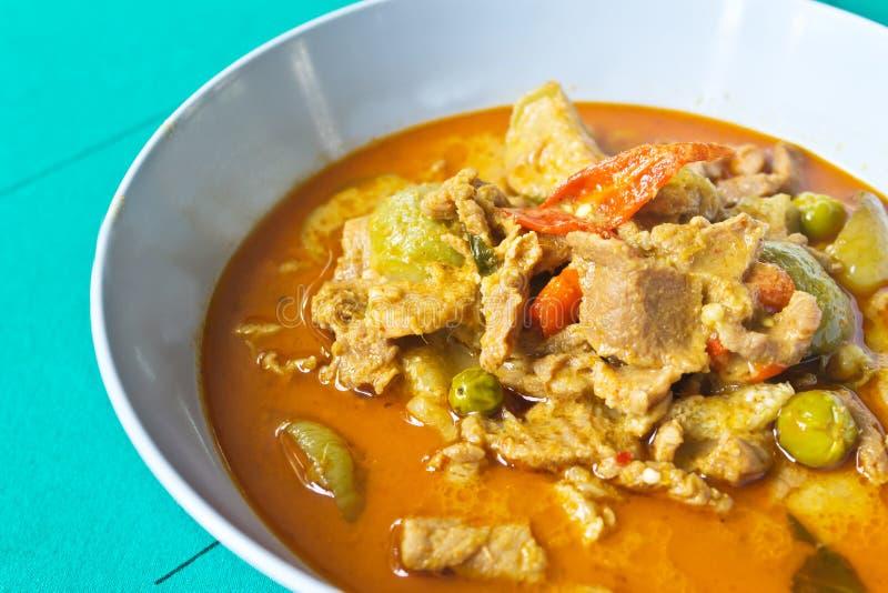 Caril tailandês quente com carne de porco imagens de stock royalty free