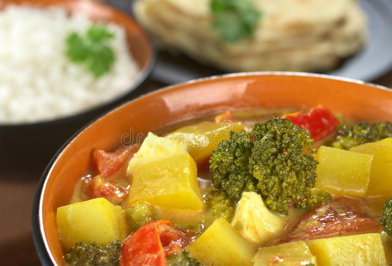 Caril vegetal indiano imagem de stock royalty free