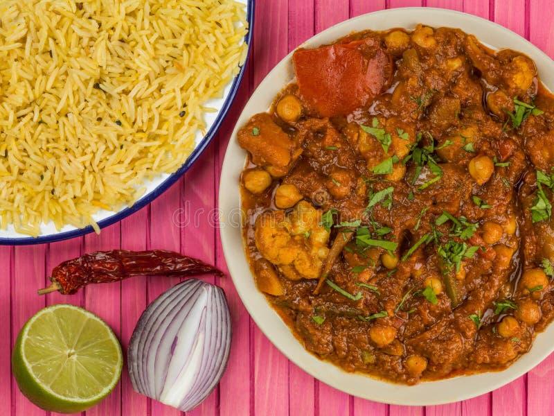 Caril vegetal indiano misturado de Masala imagens de stock