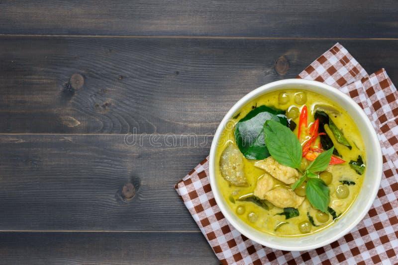 Caril verde com galinha imagem de stock