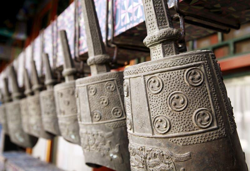 Carillón de bronce chino antiguo fotografía de archivo libre de regalías
