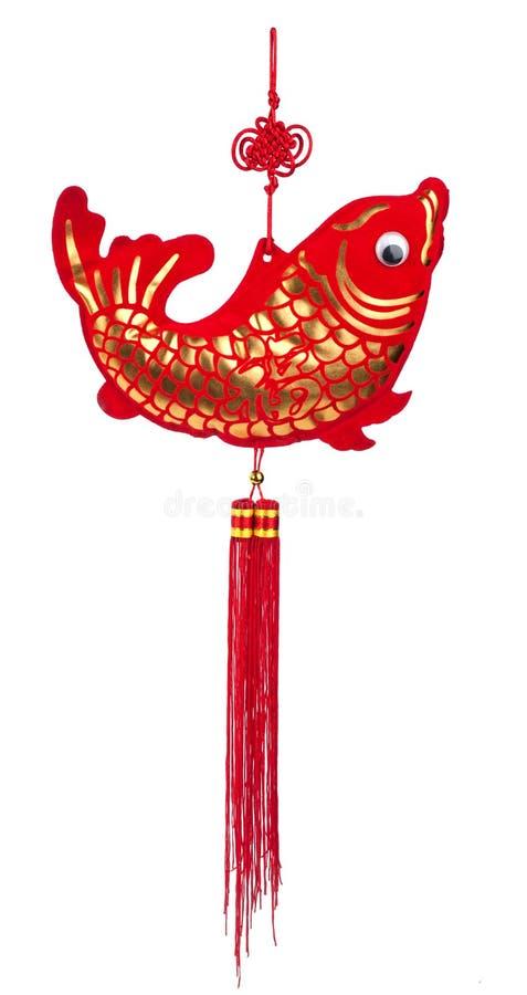 Carillón de viento de los pescados el fengshui de la riqueza del símbolo fotografía de archivo libre de regalías