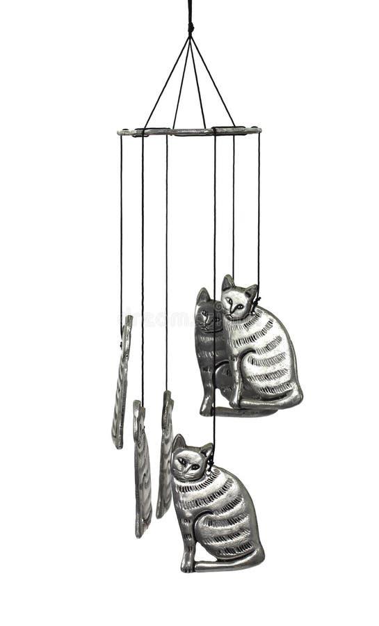Carillón de viento del gato foto de archivo libre de regalías