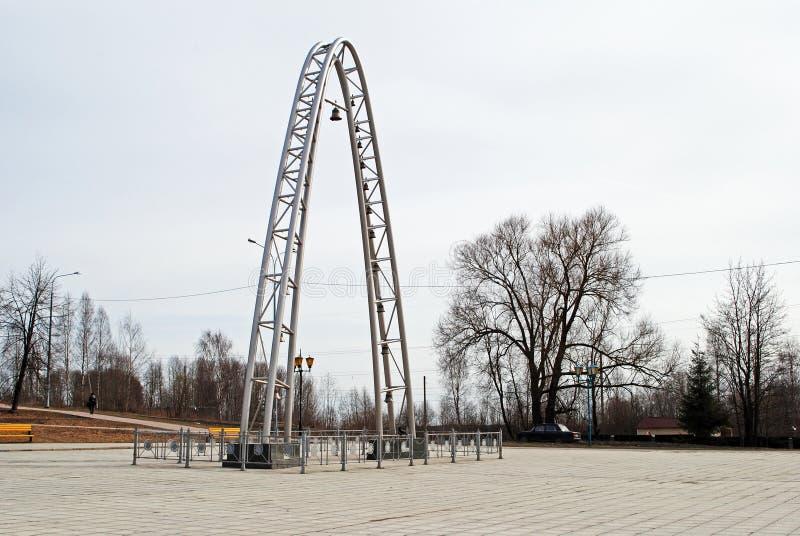 Carillón en Kondopoga, Karelia, Rusia imágenes de archivo libres de regalías