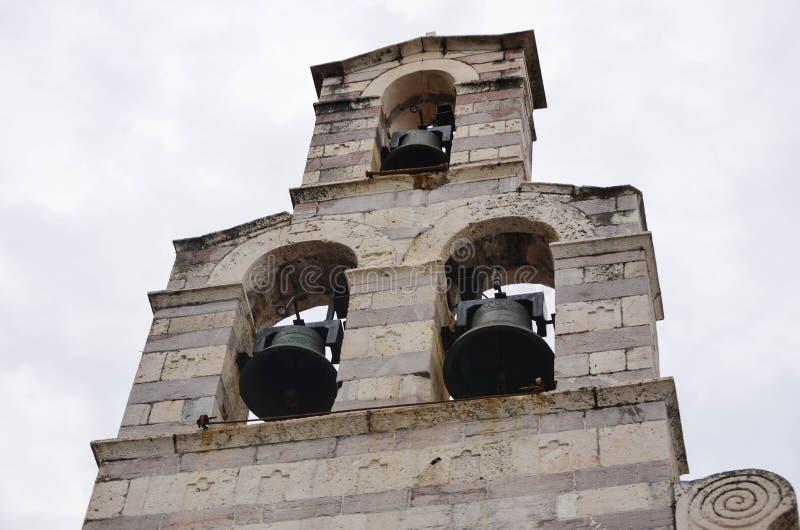 Carillón en Kotor, Montenegro imagen de archivo