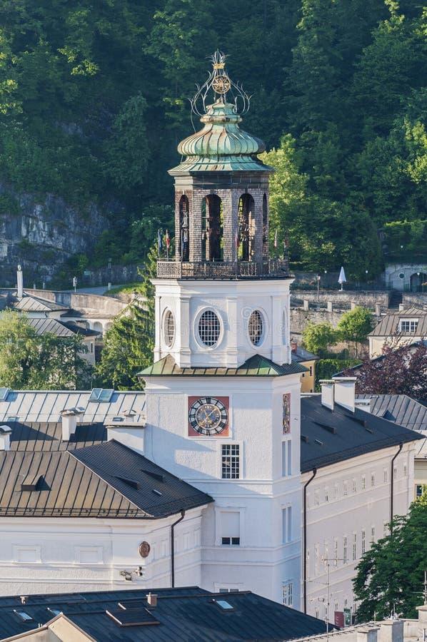 Carillion (Glockenspiel) som lokaliseras på Salzburg, Österrike royaltyfri foto
