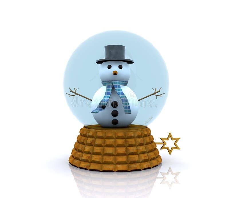 Carillon avec le bonhomme de neige - 3D illustration de vecteur