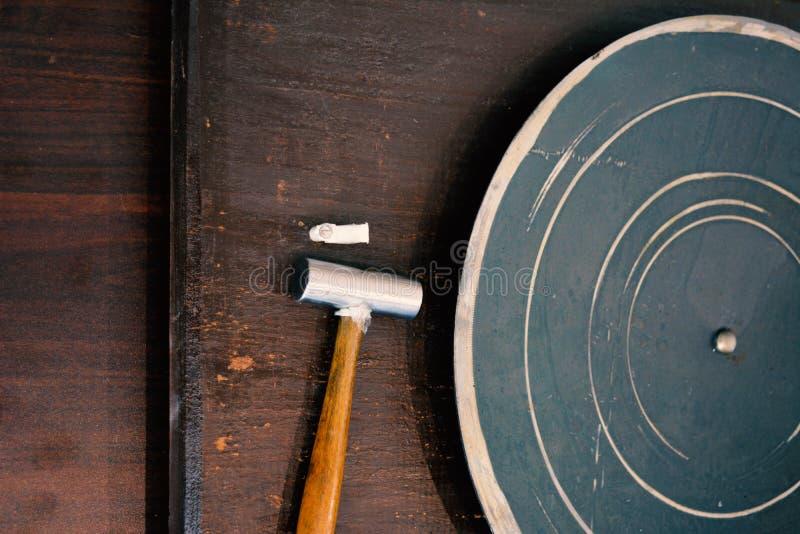 Carillon de gong photographie stock