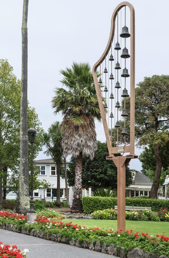 Carillon de Napier sur Clive Square à Napier, Nouvelle-Zélande photographie stock
