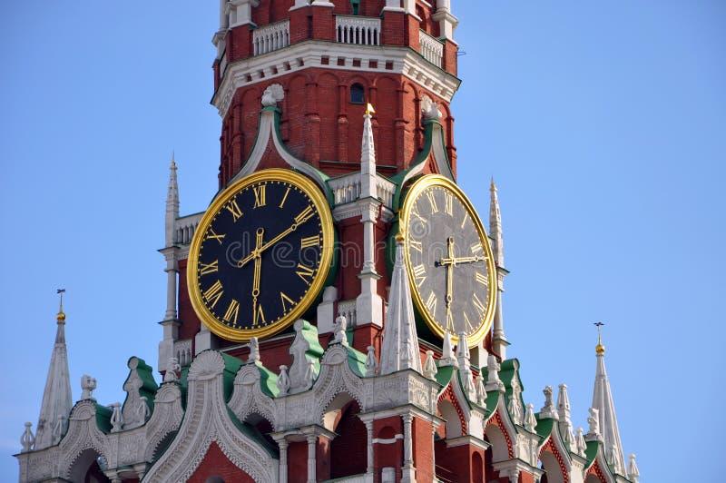 Carillon del kremlin della torretta di Spasskaya immagini stock libere da diritti
