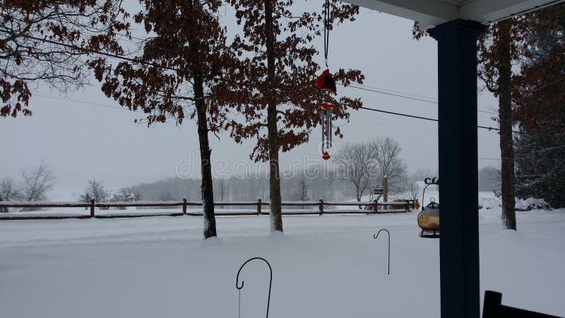 Carillon di Snowy fotografie stock libere da diritti
