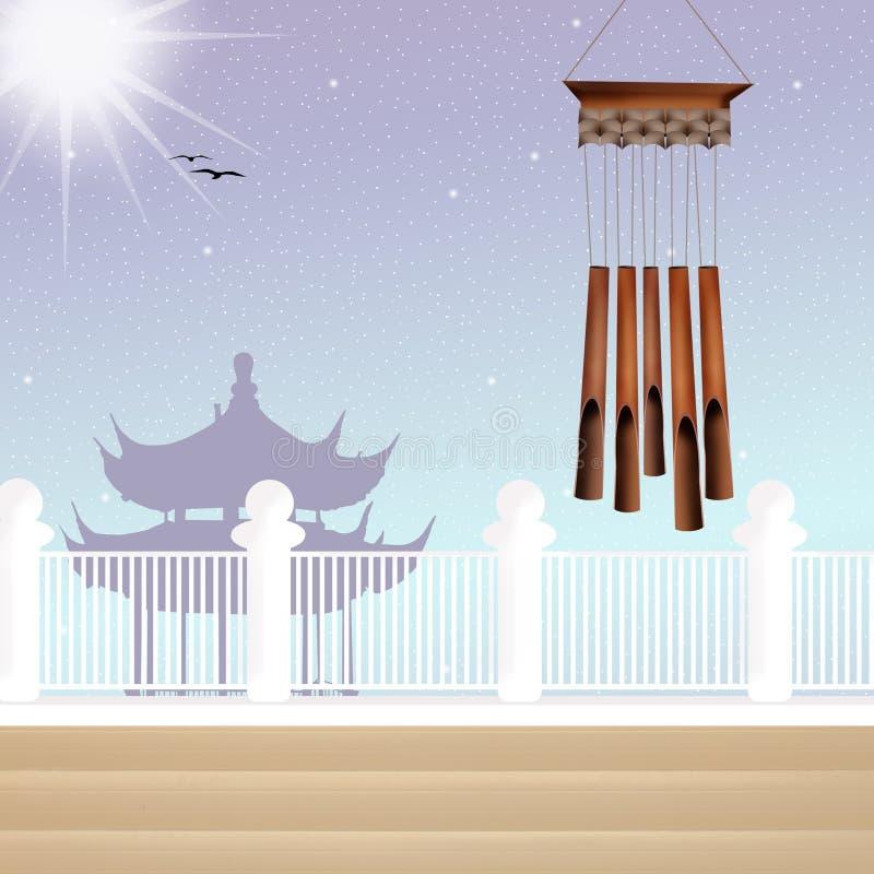Carillon di vento illustrazione di stock