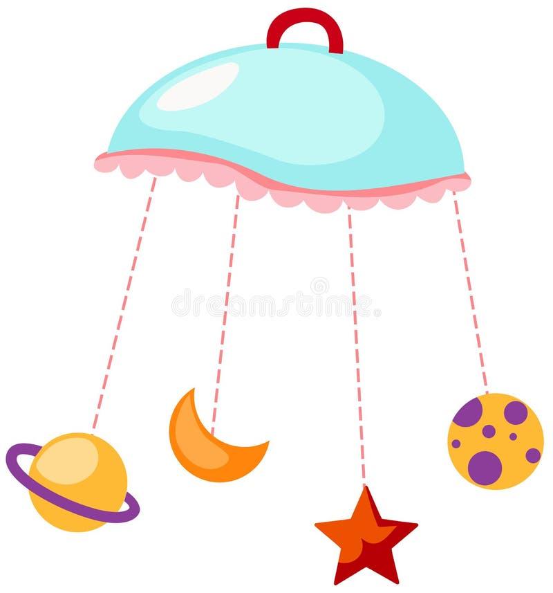 Carillon di vento del bambino illustrazione di stock