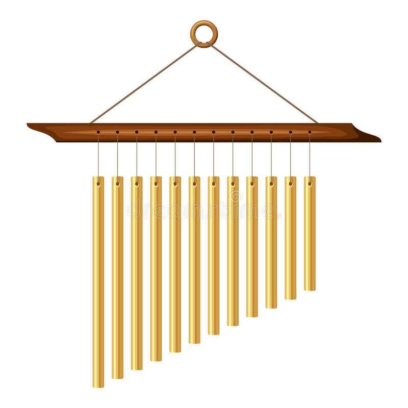 Carillon di vento Illustrazione di vettore illustrazione vettoriale
