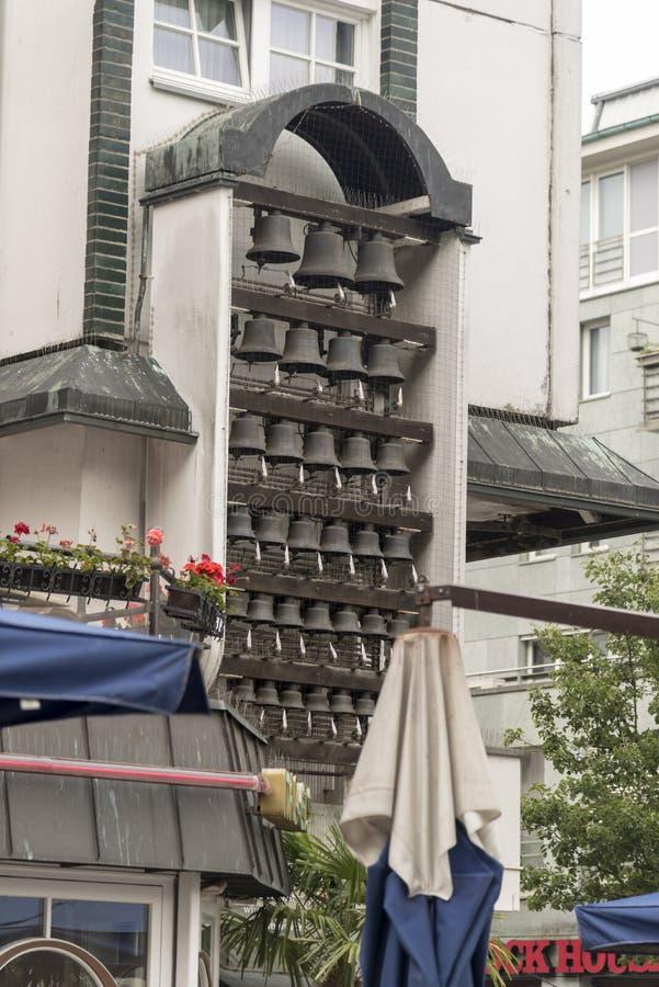 Carillon op Kropeliner-Straat Rostock het Duits royalty-vrije stock foto