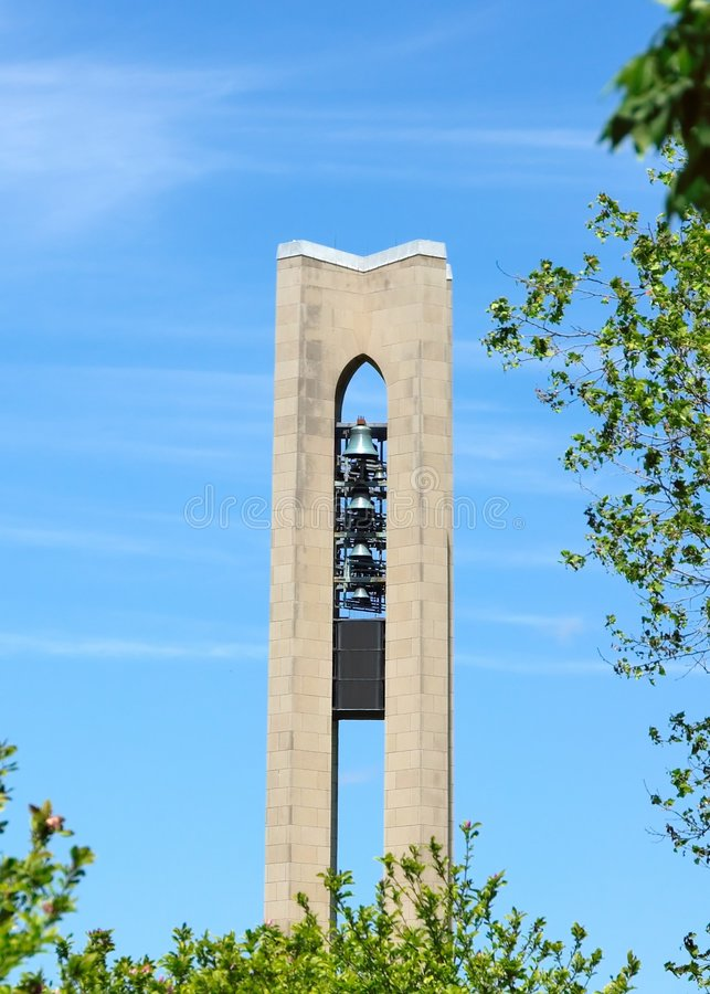 Carillon Park Tower in Dayton Ohio. On a Spring Day stock photo