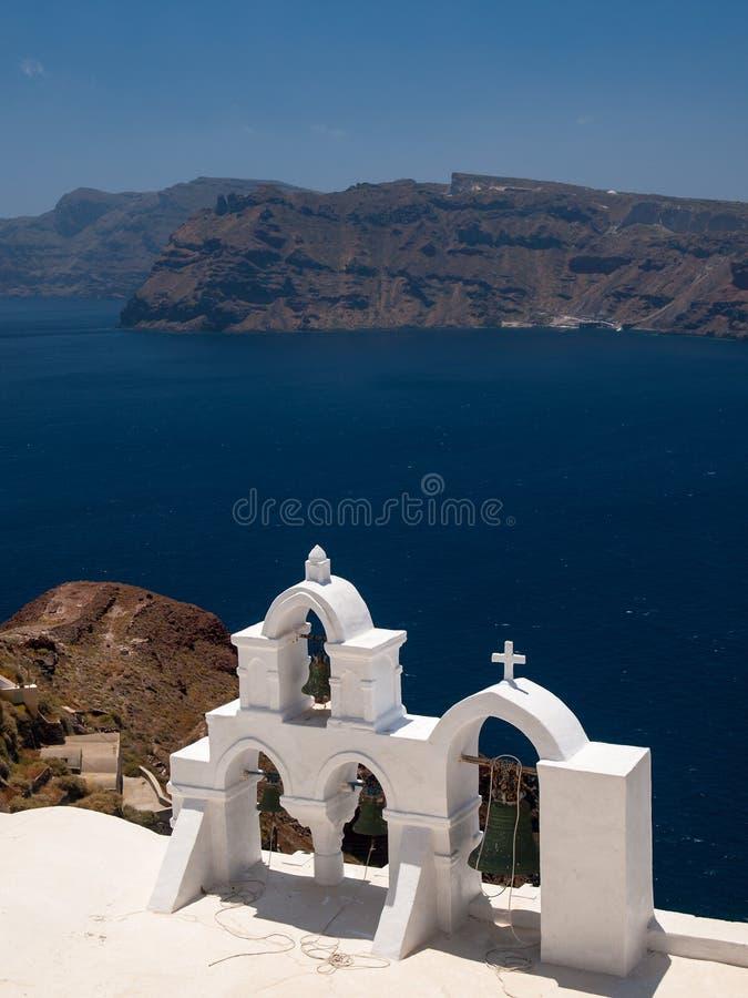 Carillon in Santorini fotografia stock libera da diritti