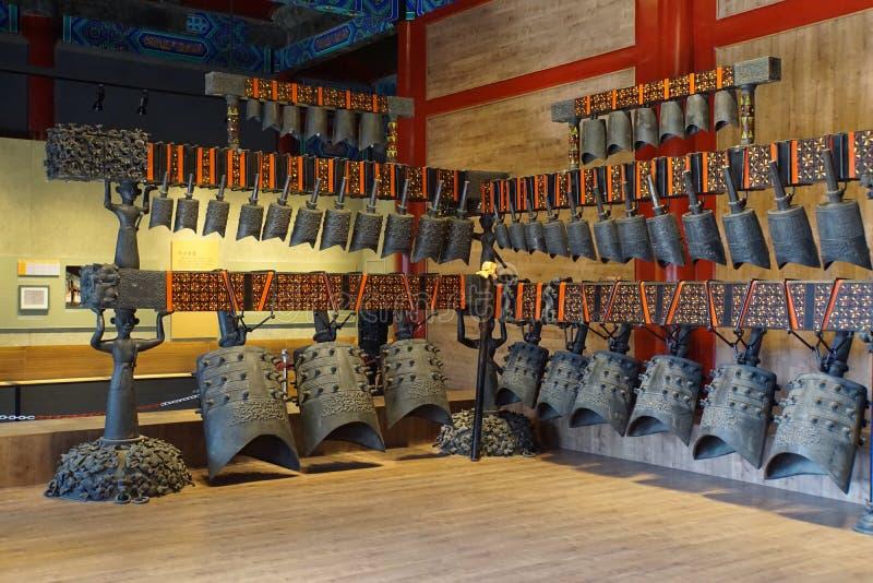 Carillones antiguos en China fotografía de archivo