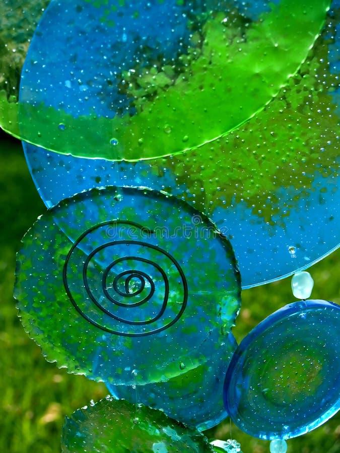 Carillones de viento de cristal 2 imágenes de archivo libres de regalías