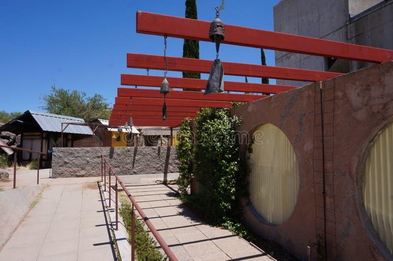 Carillons de vent d'Arcosanti photographie stock libre de droits