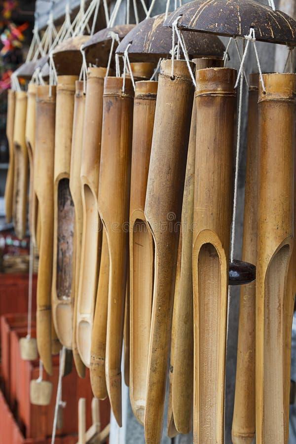 Carillons de vent en bambou photos libres de droits