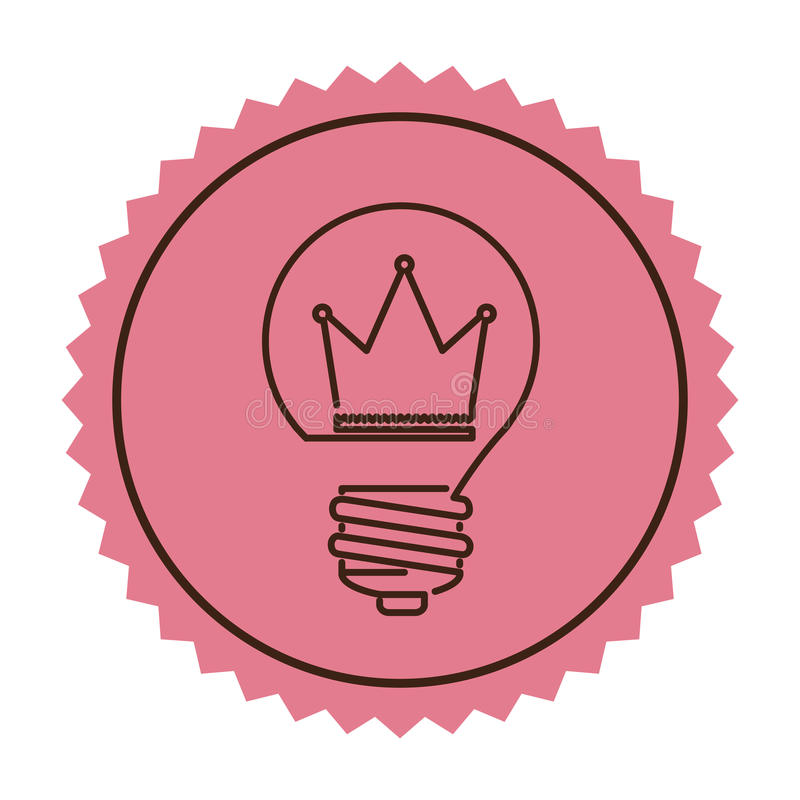 Carimbe o ícone liso da ampola da silhueta com coroa para dentro ilustração do vetor