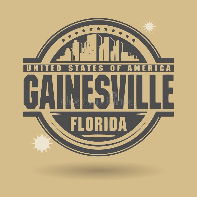 Carimbe ou etiqueta com texto Gainesville, Florida para dentro ilustração royalty free