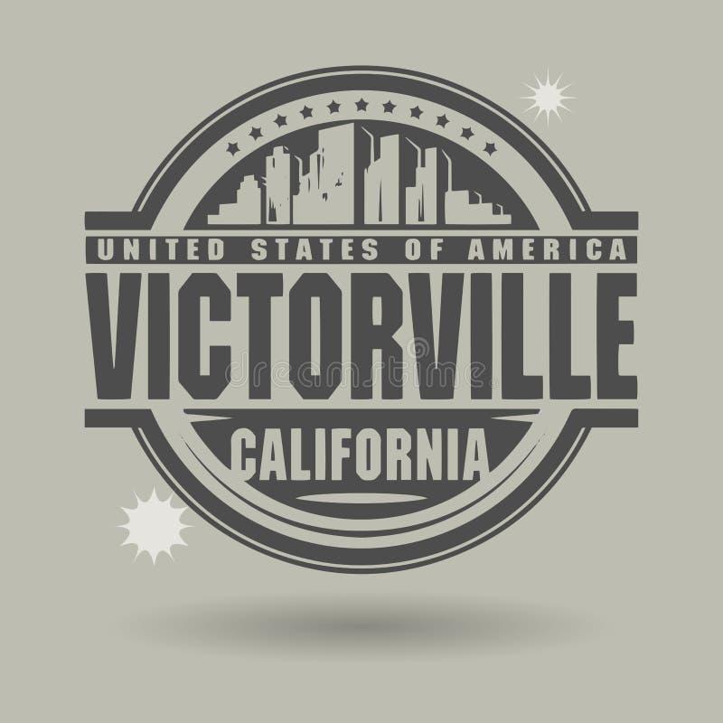 Carimbe ou etiqueta com texto Victorville, Califórnia para dentro ilustração royalty free