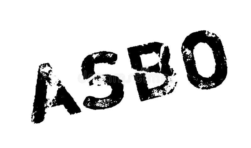 Carimbo de borracha antissocial da ordem do comportamento de ASBO ilustração do vetor