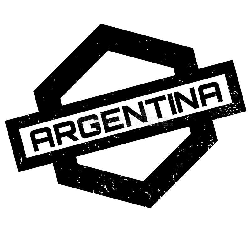 Carimbo de borracha de Argentina ilustração do vetor