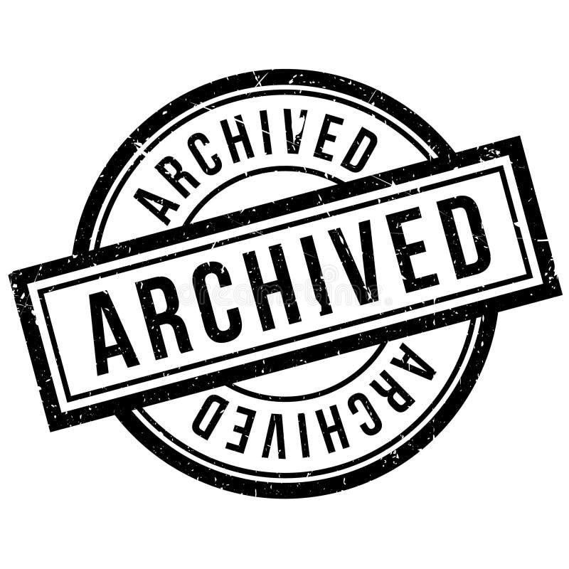 Carimbo de borracha arquivado ilustração stock