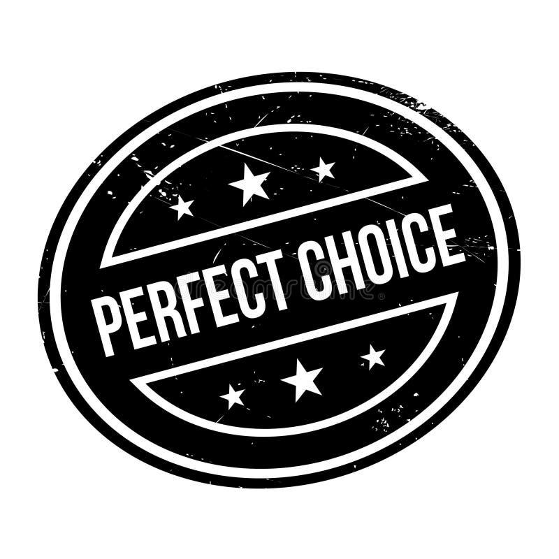 Carimbo de borracha bem escolhido perfeito imagens de stock royalty free