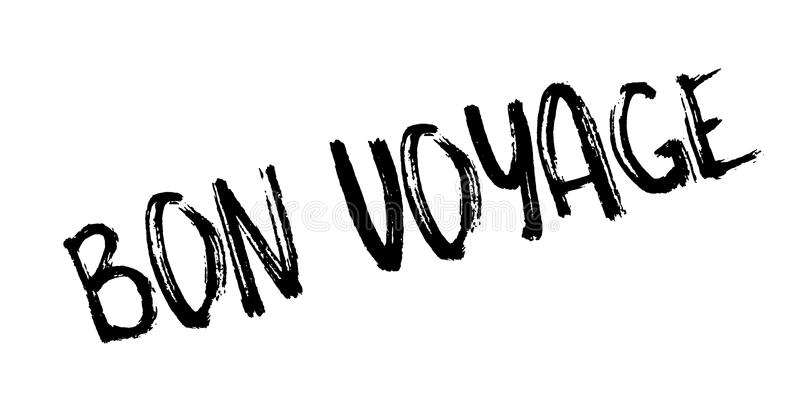 Carimbo de borracha de Bon Voyage ilustração do vetor