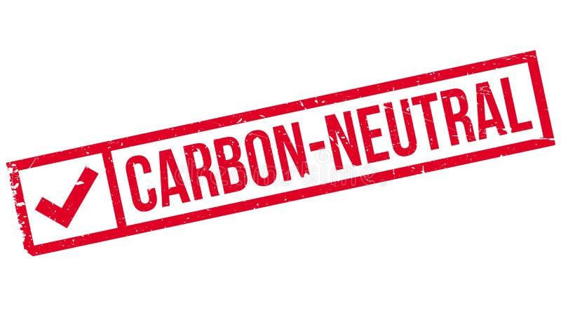 carimbo de borracha Carbono-neutro fotografia de stock