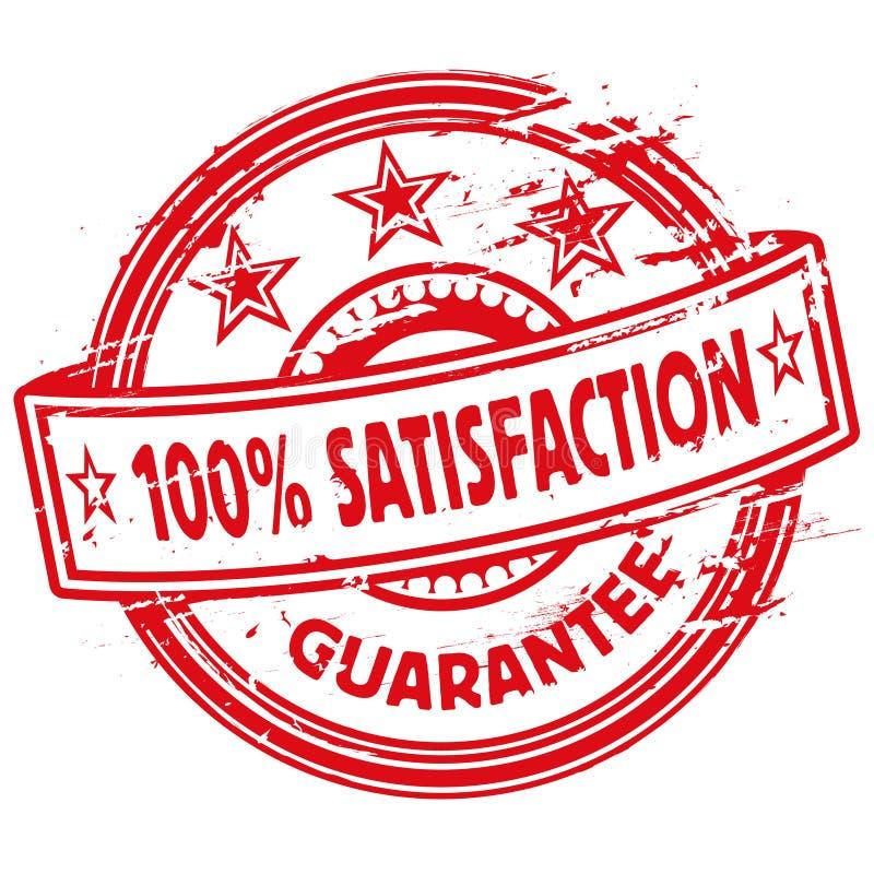 Carimbo de borracha cem por cento de satisfação ilustração royalty free