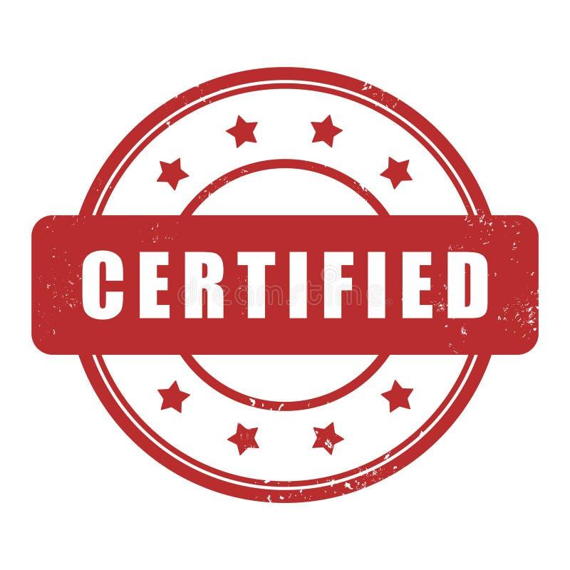 Carimbo de borracha certificado do grunge ilustração royalty free