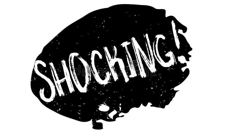 Carimbo de borracha chocante ilustração do vetor