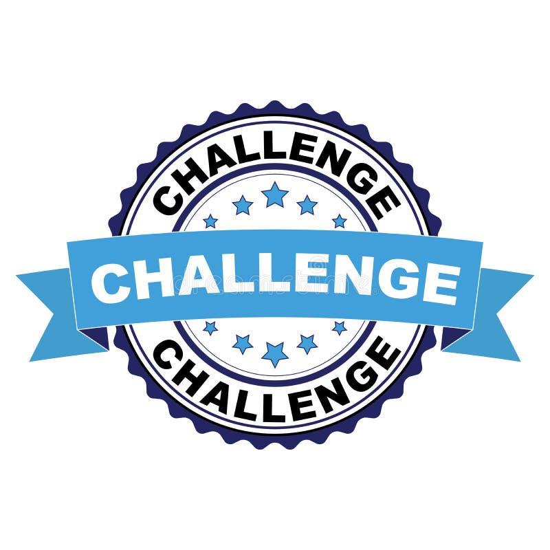 Carimbo de borracha com conceito do desafio ilustração royalty free