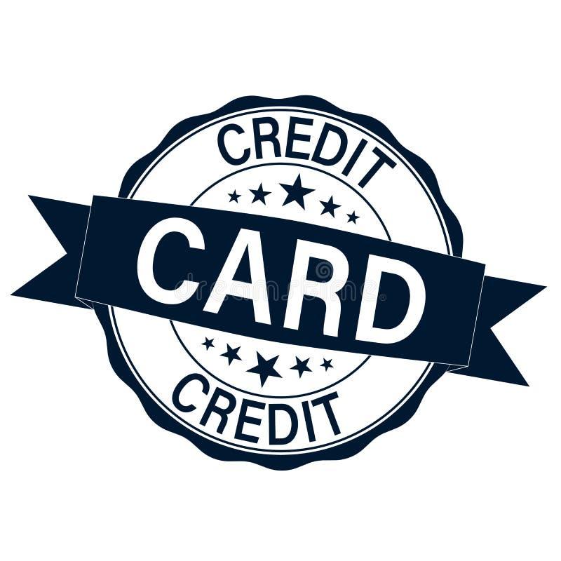 Carimbo de borracha com os cartões de crédito do texto para dentro ilustração royalty free