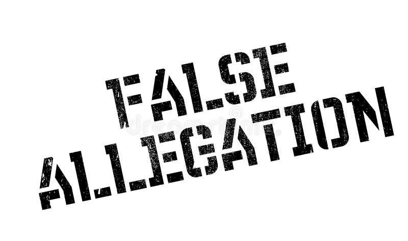 Carimbo de borracha da alegação falsa ilustração do vetor