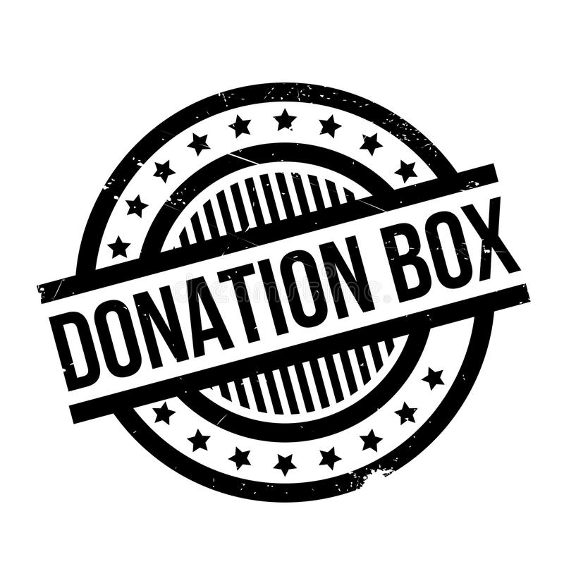 Carimbo de borracha da caixa da doação ilustração royalty free