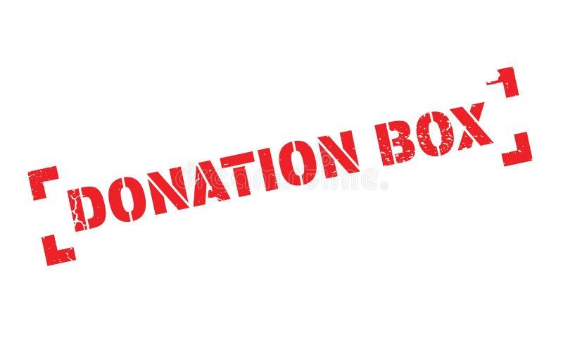 Carimbo de borracha da caixa da doação ilustração stock