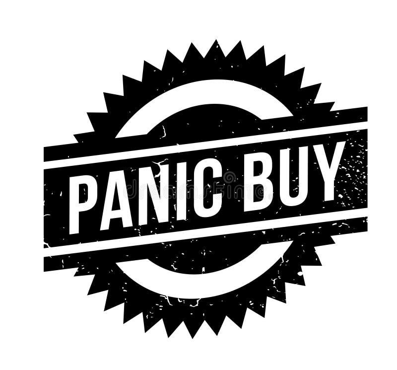 Carimbo de borracha da compra do pânico ilustração do vetor