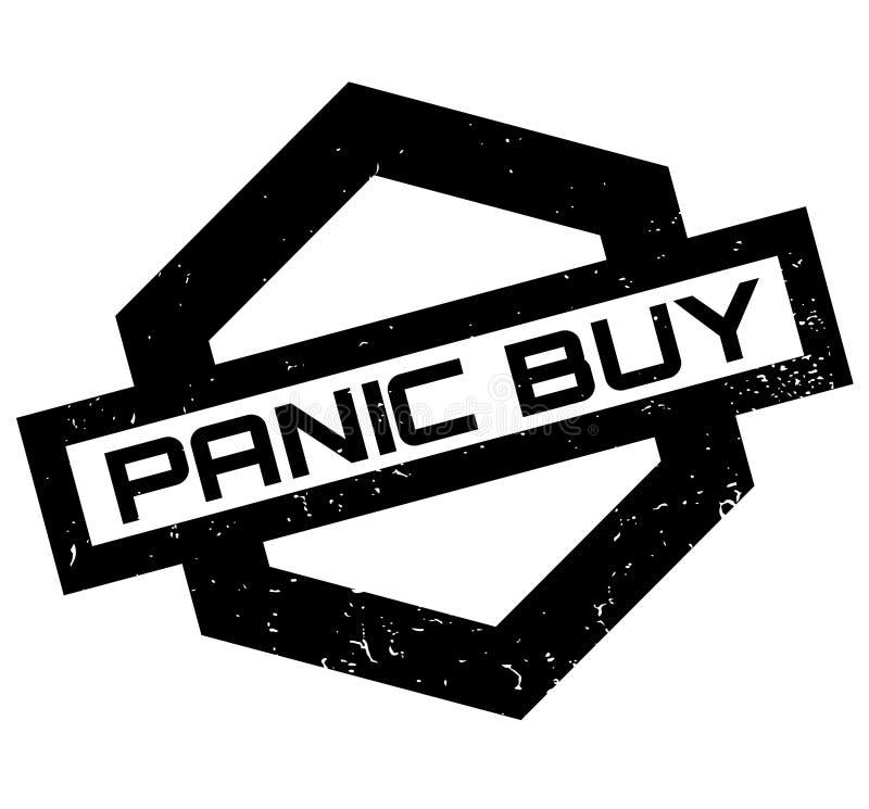 Carimbo de borracha da compra do pânico ilustração stock