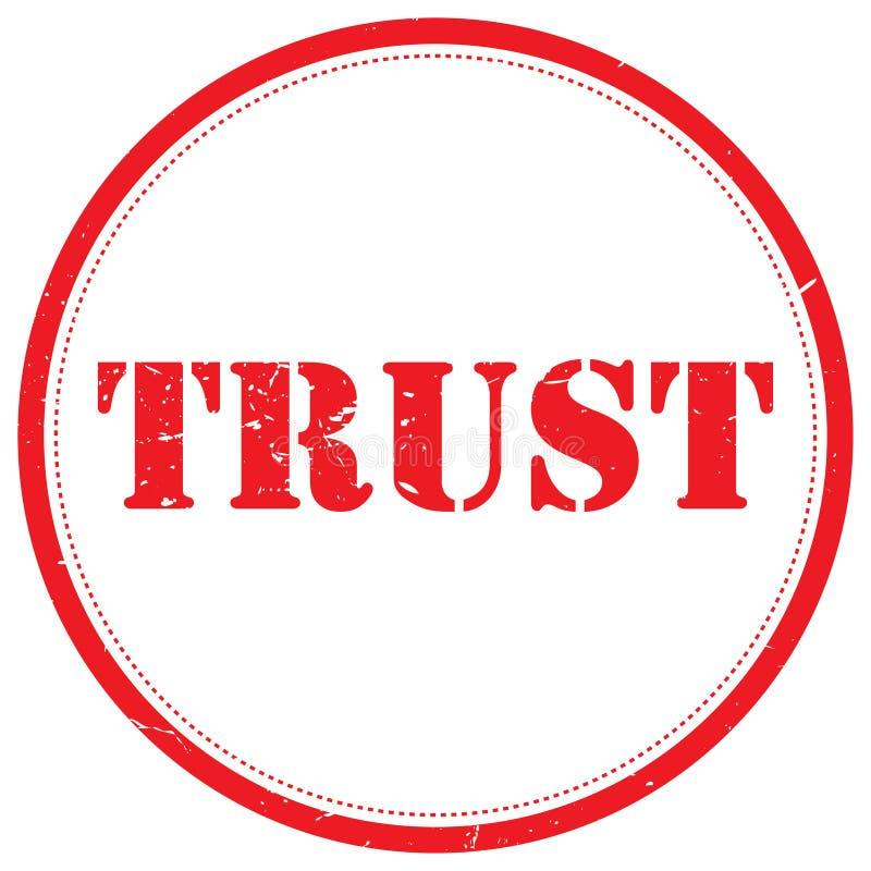 Carimbo de borracha da confiança ilustração do vetor