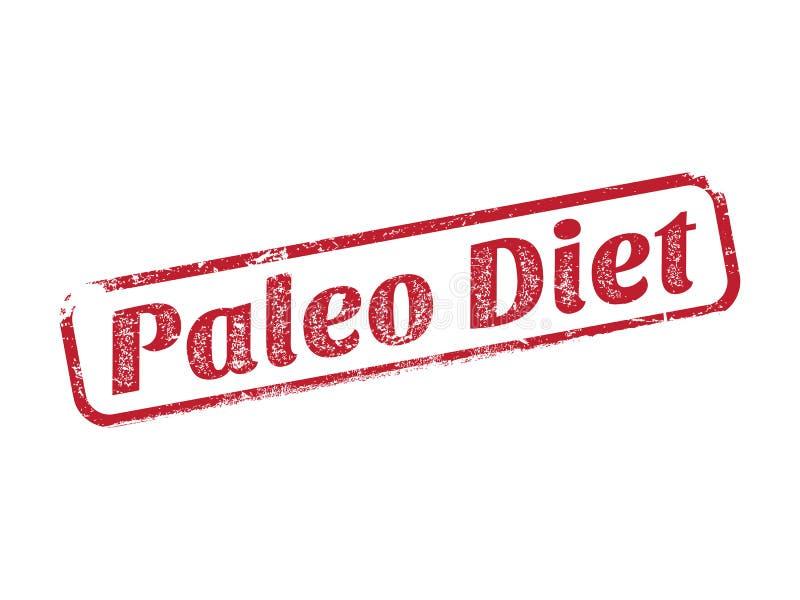 Carimbo de borracha da dieta de Paleo ilustração stock