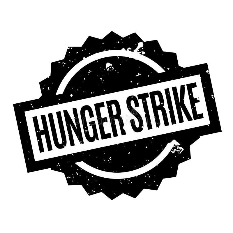 Carimbo de borracha da greve da fome ilustração stock